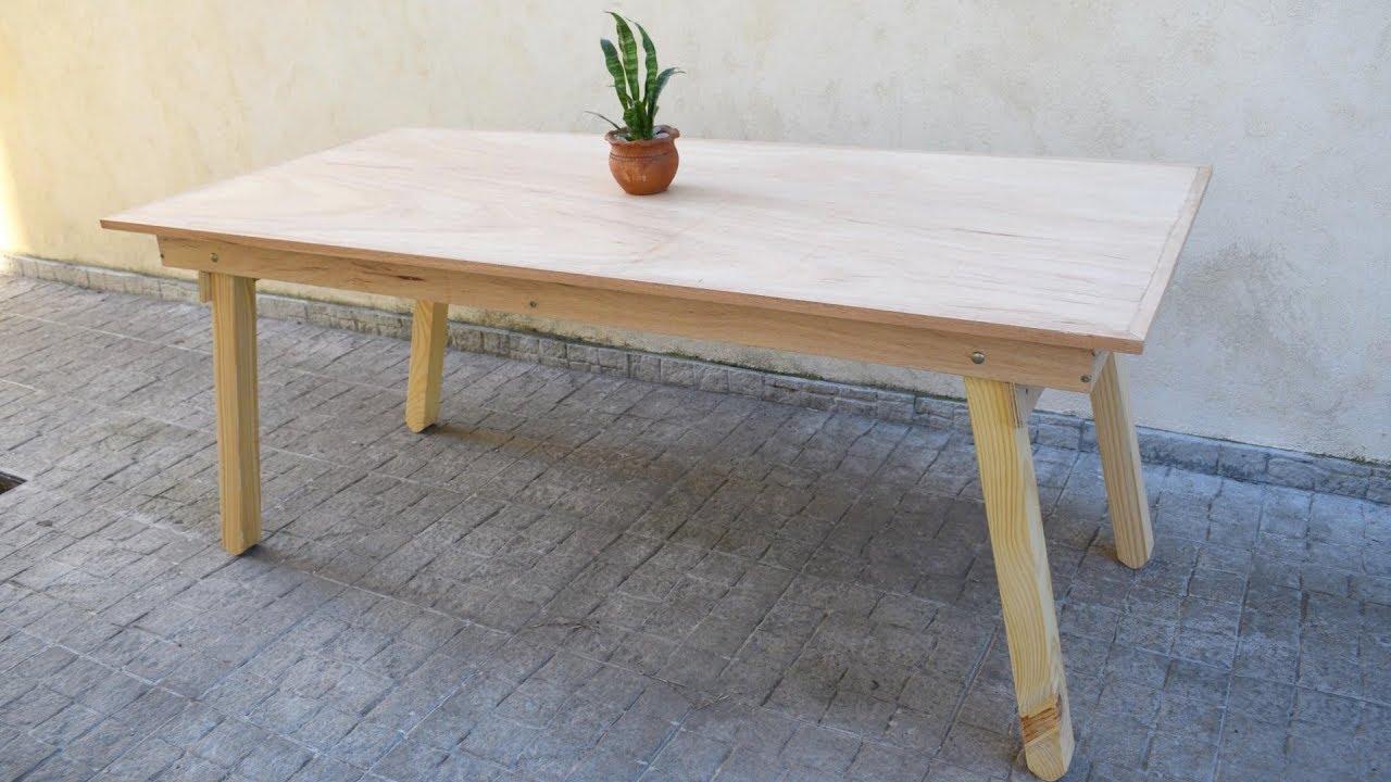 Fabricar Mesa Plegable Madera.Como Hacer Mesa Plegable Proyecto Mueble Repost