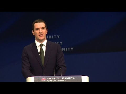 British chancellor says Conservatives are party of labour