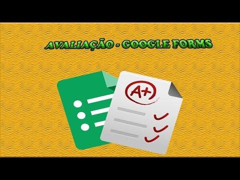Avaliações - Usando o Google Drive