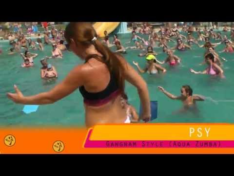 PSY gangnam style Aqua Zumba choreography by Lucia Meresova [HD]