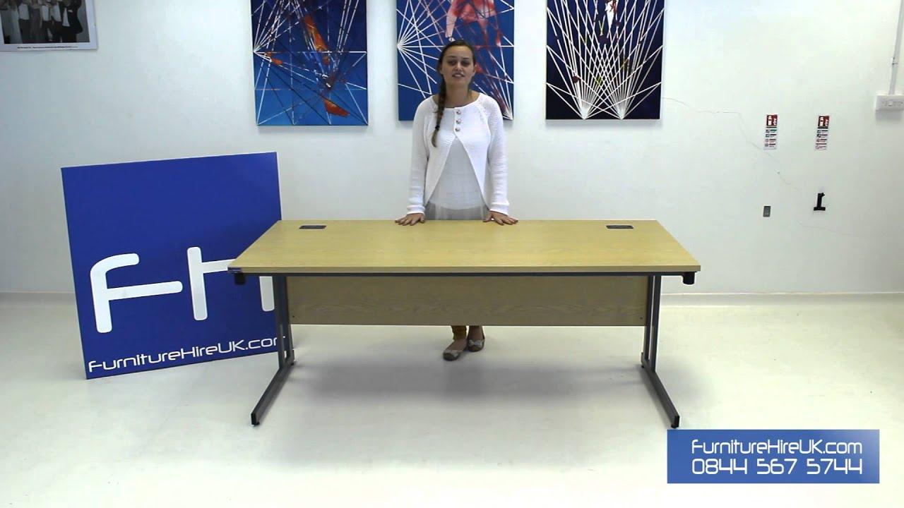 1800mm Folding Leg Straight Desk Demo - Furniture Hire UK
