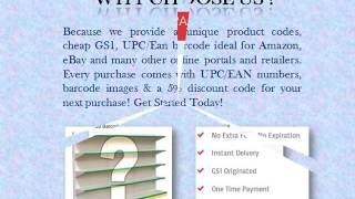 Purchase Upc/Ean Barcodes Bundles for Sale