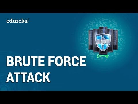 What is Brute Force Attack?   Password Cracking Using Brute Force Attacks   Edureka