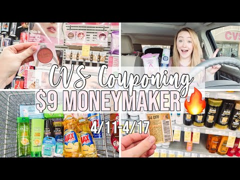 FREE $9 MONEYMAKER CVS HAUL! (4/11-4/17) COME COUPON WITH ME!