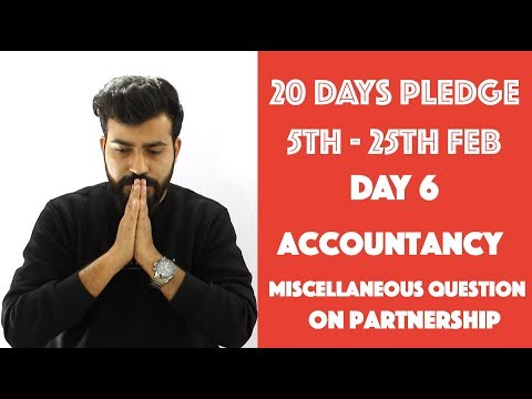 Day- 6 - Manager as a Partner - Accounting for Partnership - Accountancy - class 12th#20dayspledge