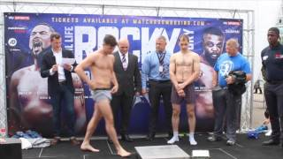 SCOTT FITZGERALD v GABOR BALOGH - OFFICIAL WEIGH IN & HEAD TO HEAD / REAL LIFE ROCKY STORY