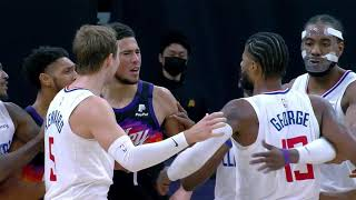 Devin Booker And Paul George Went At It