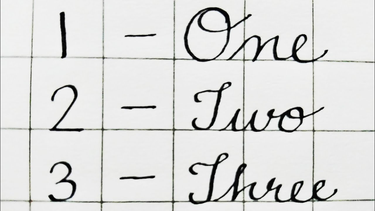 how to write two in cursive