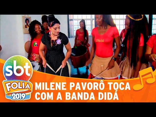 Milene Pavorô toca com a banda Didá | SBT Folia 2019