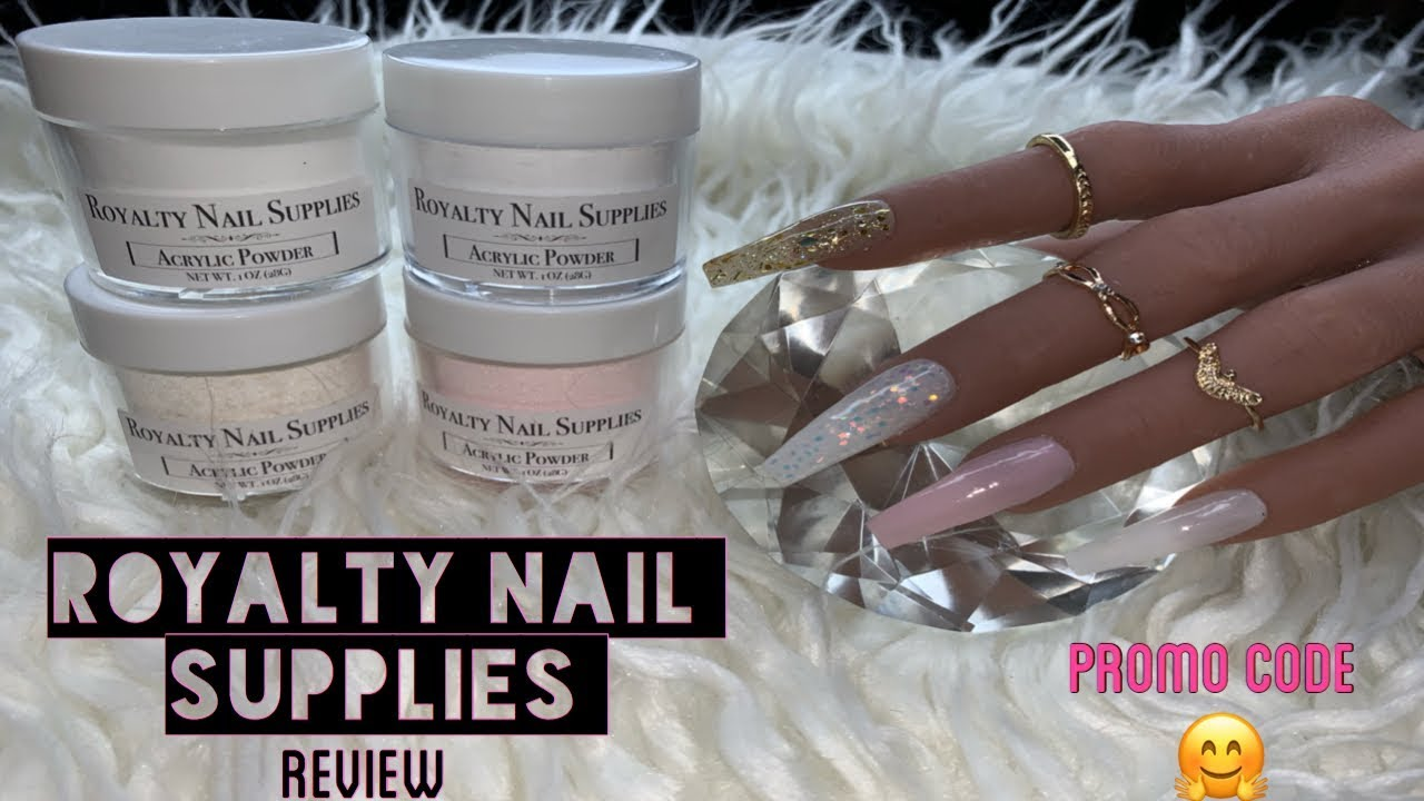 Royalty Nail Supplies Review | Acrylic Powders | Promo Code - YouTube