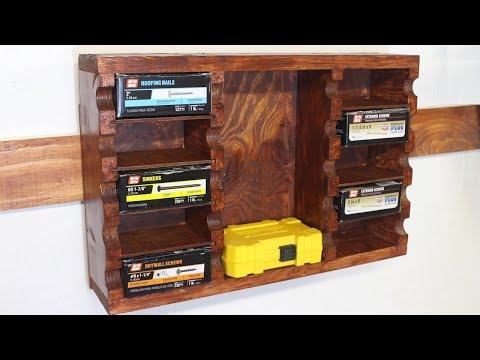 diy-wall-mounted-nail/screw-hardware-organizer