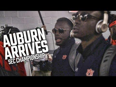 Watch Auburn arrive in Atlanta for SEC Championship Game