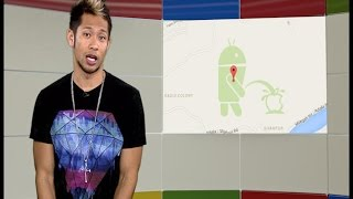 Googlicious - An Android peeing on an Apple puts Google