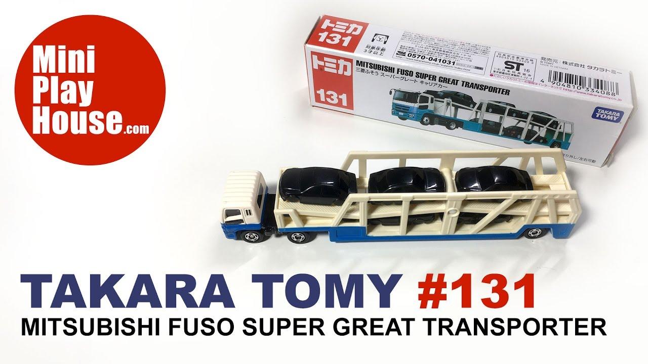 Takara Tomy Tomica #131 Mitsubishi Fuso Super Great Transporter Diecast Toy Auto
