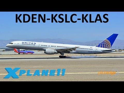 X-Plane 11 | 757 & 767 Updated!! | B757 B767 | PilotEdge | Denver, Salt  Lake City & Las Vegas!!