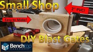 Shop Vac Blast Gates EASY DIY!
