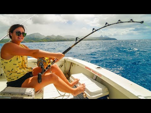 GIANT Fish Takes Us By Surprise...(St. Lucia Deep Sea Fishing And Snorkeling)