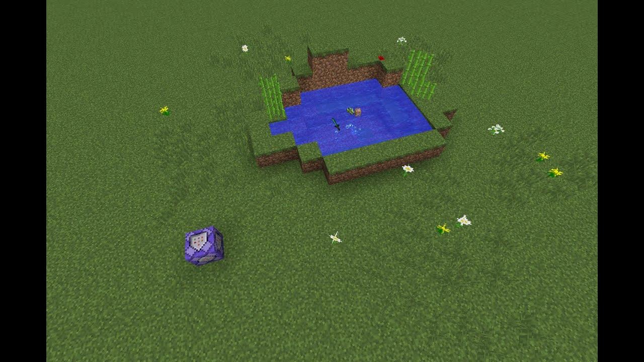 Minecraft北風雲-1.9指令方塊教學-物品浮在水上 - YouTube