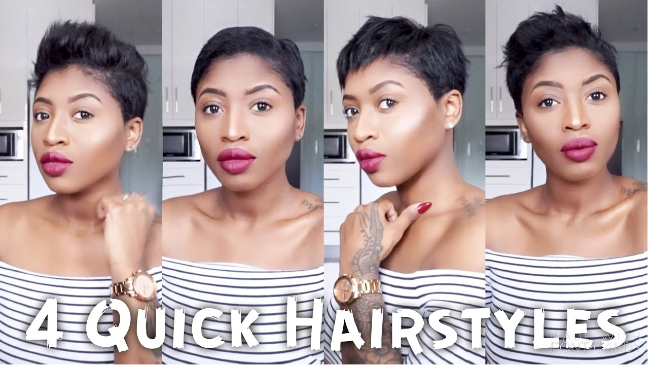 4 Quick Easy Ways To Style Short Hair For Black Women