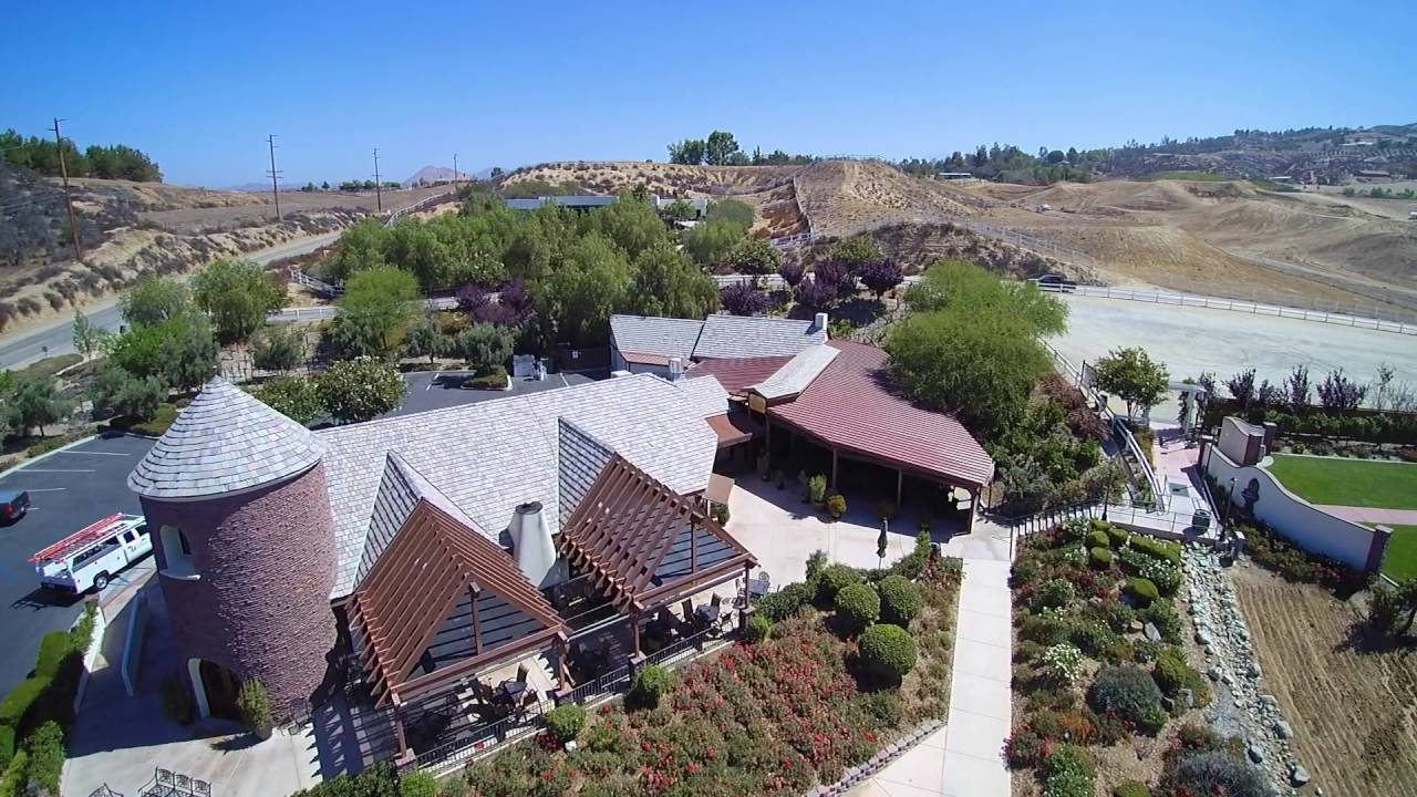 Temecula Wine Country De Portola Wine Trail from above
