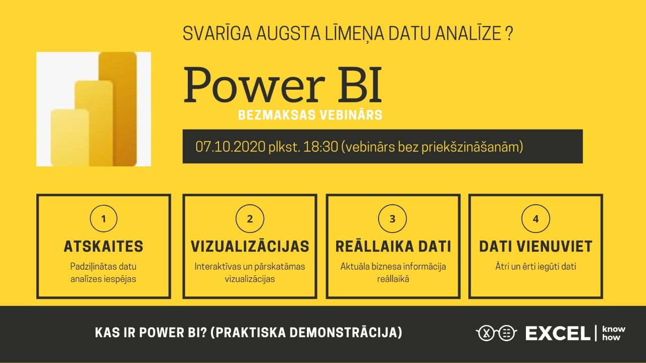 Kas ir Power BI? [video]