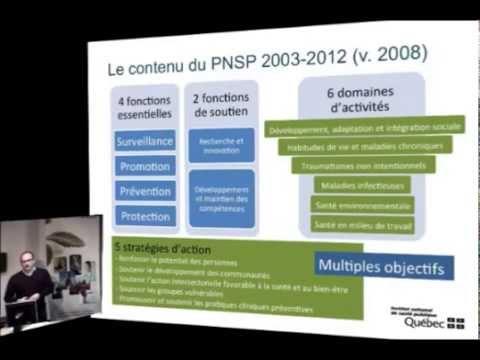 Le Programme national de santé publique (PNSP) dans une perspective sociohistorique et d'innovation