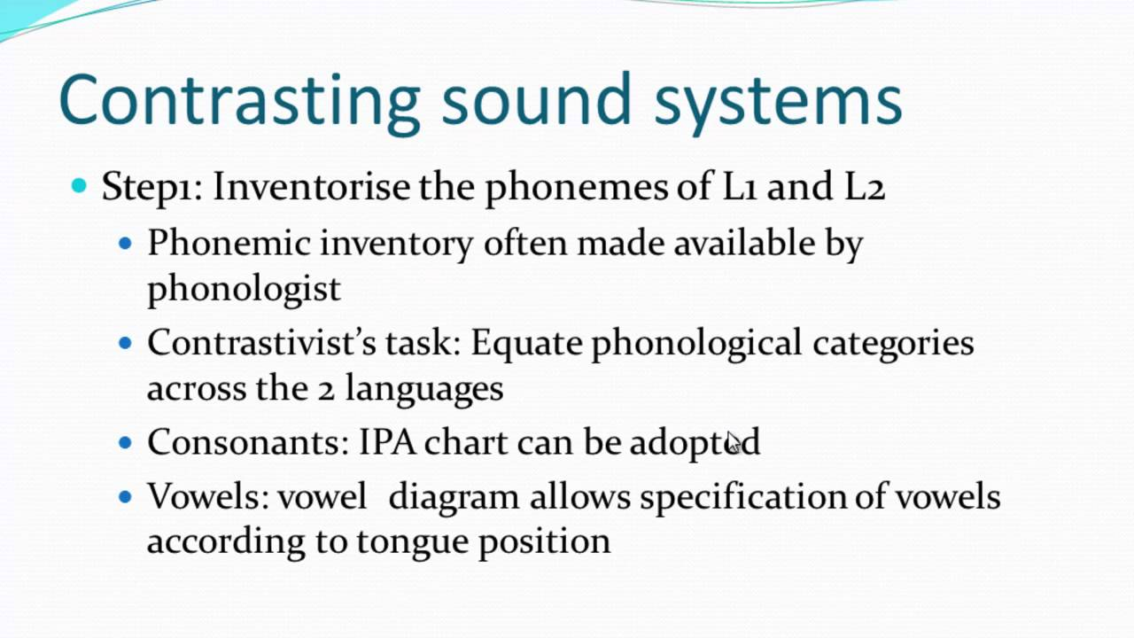 Phonological Contrastive Analysis Youtube