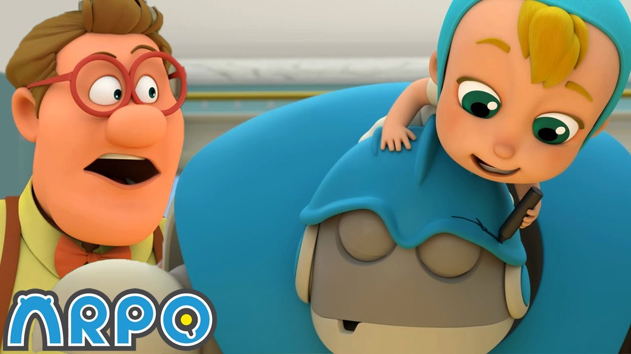 Arpo the Robot | Low BATTERY!!! | NEW VIDEO | Funny Cartoons for Kids | Arpo and Daniel