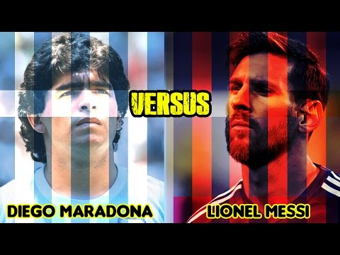 THE LEGENDARY BATTLE | Maradona VS Messi | HD