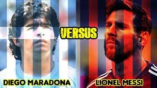 THE LEGENDARY BATTLE   Maradona VS Messi   HD