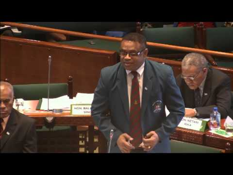 Fijian Minister for Defence, National Security and Immigration responds to question