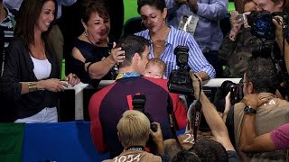 michael phelps gets choked up over having his son watch him win gold