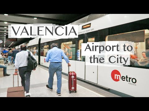 Valencia Airport (VLC) to City Center by Metro Train