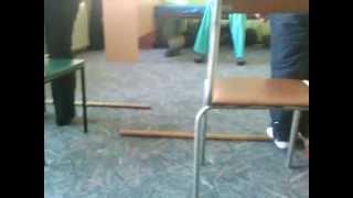Лечебная гимнастика после перелома лодыжки(Вам понадобится: стул со спинкой, резиновый мед. бинт, палка от швабры, чуть сдутый мяч.Надеюсь, кому нибудь..., 2013-03-27T20:21:18.000Z)
