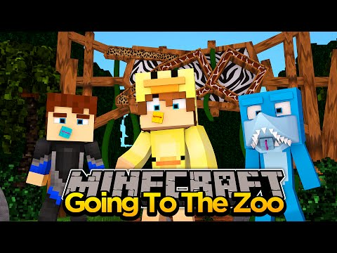 MINECRAFT ADVENTURE- GOING TO THE ZOO WITH SCUBA STEVE!