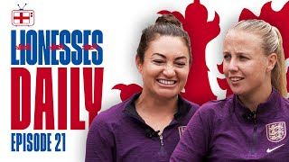 I Was Trying to BLOW it Over The Line! | Jodie Taylor & Beth Mead | Lionesses Daily Ep. 21