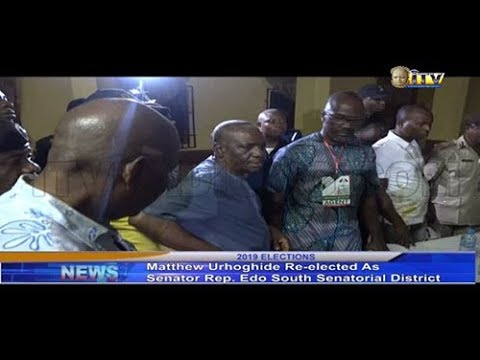 Urhoghide wins re-election for Edo South Senatorial District seat