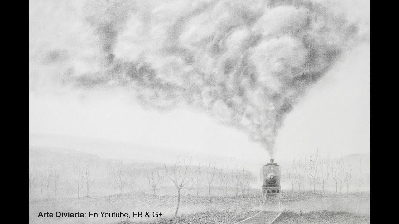 Dibujando humo cmo dibujar un tren realista  Arte Divierte