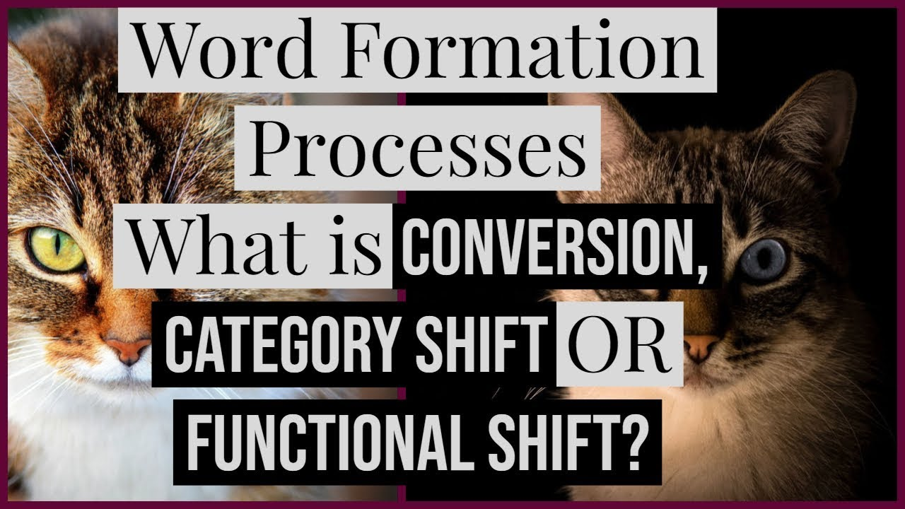 What is Conversion | Category Change | Functional Shift | Word Formation  Processes [ Urdu/Hindi ]