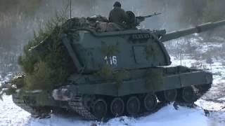 Полевые занятия артиллеристов Ленобласти по поражению высокоманевренных целей из САУ «Мста-С»
