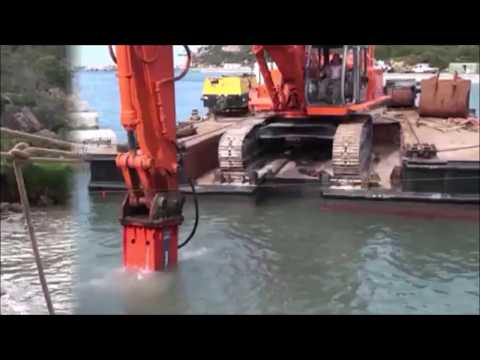 Promove - Hydraulic breaker XP4500 used for underwater demolition