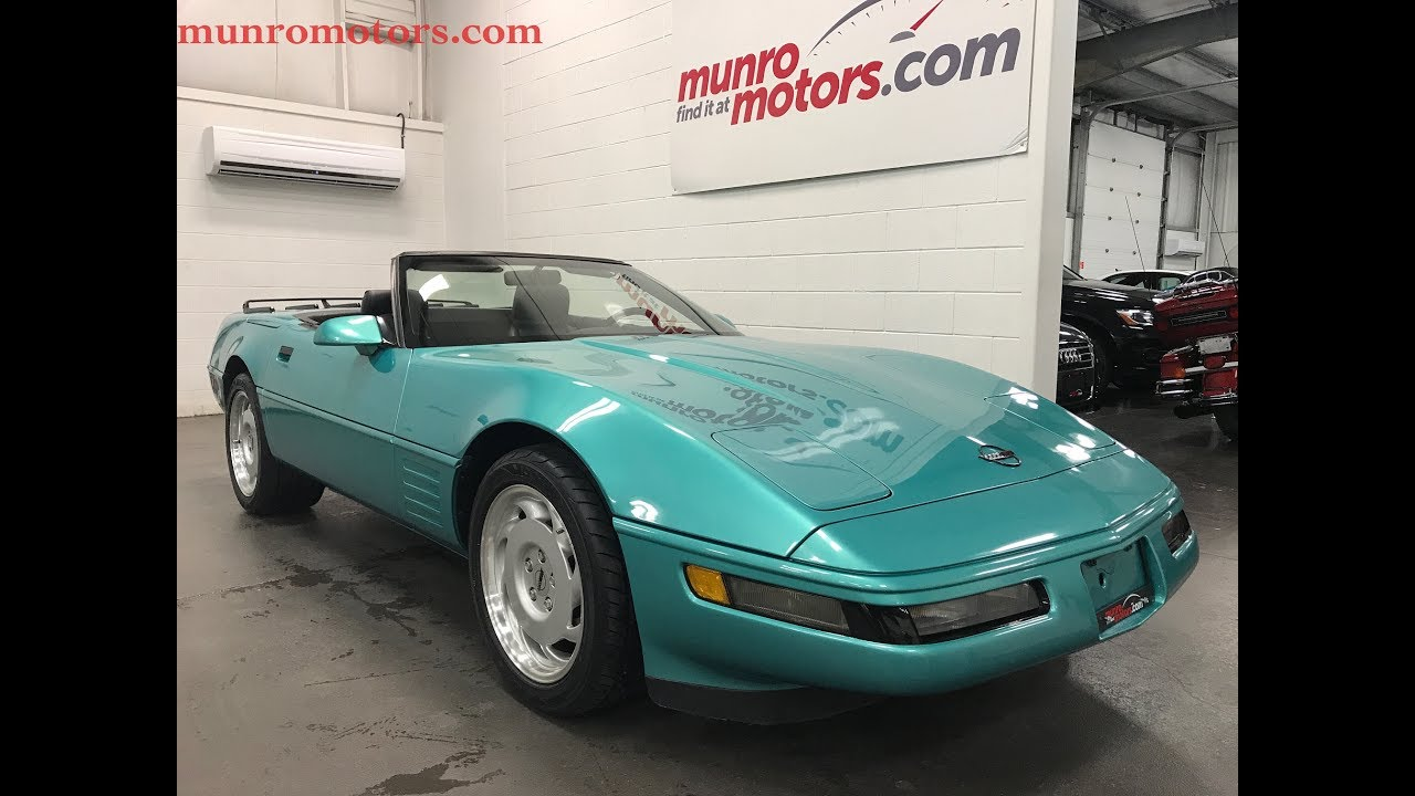 1991 Chevrolet Corvette SOLD SOLD SOLD Convertible Automatic Low Kms Clan  Carproof Munro Motors