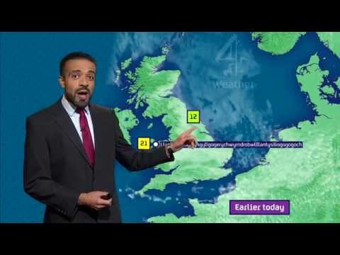 Welsh Weather Presenter Breaks All Laws Of Pronunciation!