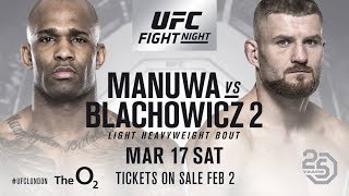Jan Blachowicz vs Jimi Manuwa- UFC Fight Night 127  -  Preview Picks Betting Odds