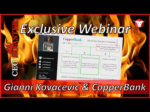 CopperBank Resources Corp. in a CEO-Roaster Web Conference with Gianni Kovacevic (CSE: CBK)
