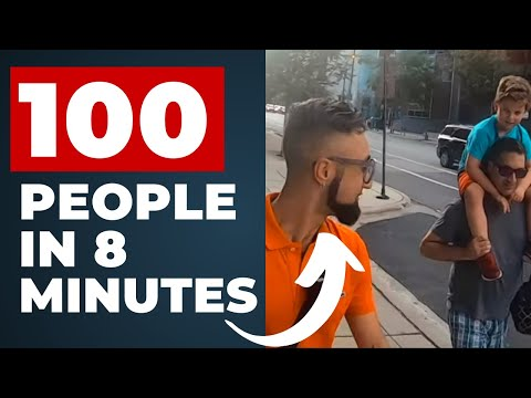 """""""What Happens When You Approach 100 PEOPLE In 8 Minutes!?"""" 