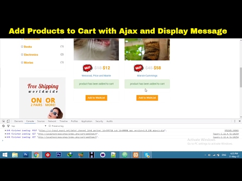 Add to Cart || Ajax functionality in Laravel || Laravel Shopping Cart website tutorial - Part 74