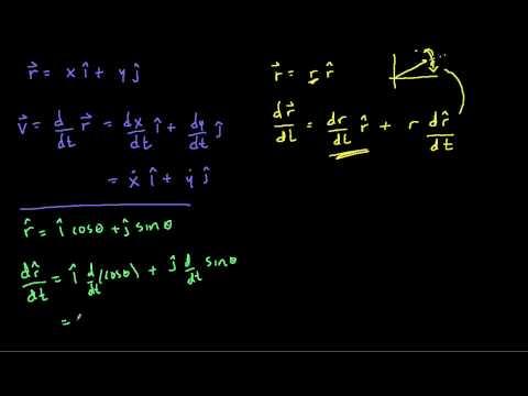 velocity in polar coordinates