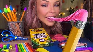 ASMR EATING EDIBLE CANDY SCHOOL SUPPLIES (FAKE) MOST ODDLY SATISFYING EATING SOUNDS (HIGHEST VOLUME)