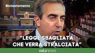 "Biotestamento, Gasparri: ""Legge sbagliata che verrà stralciata"""